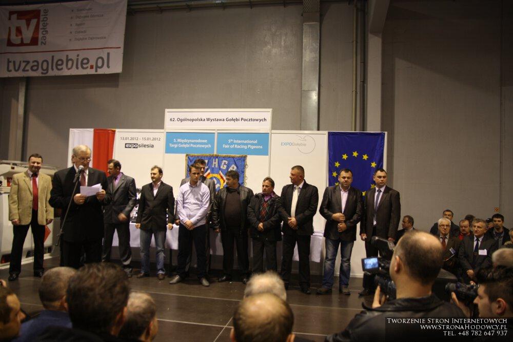 Wręczenie pucharów za Genaralne Mistrzostwo Polski 2012.